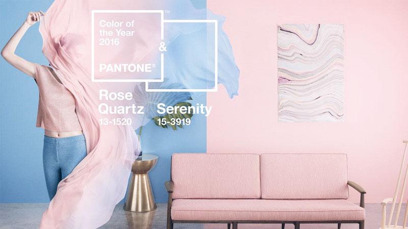 """I colori pantone 2016: rosa quarzo e """"serenity"""""""